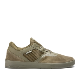 Supra Mens SAINT Olive/olive Low Top Shoes | CA-29394